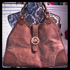 Michael Kors Distressed Ostrich Bag